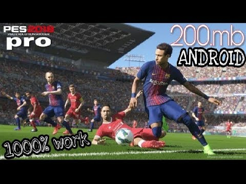 DOWNLOAD 200MB PES 18 SOCCER OFICALMOD APK OBB ALL ANDROID DEVICES|WITH GAMEPLAY  #Smartphone #Android