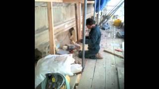 Bath Stonemasons (Minerva) repair to private house.