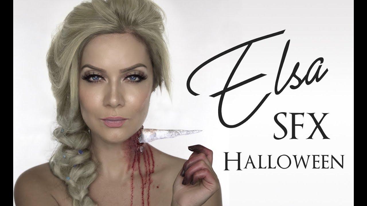 Elsa Frozen SFX MakeUp | Icicle In Neck SFX | Halloween Disney ...