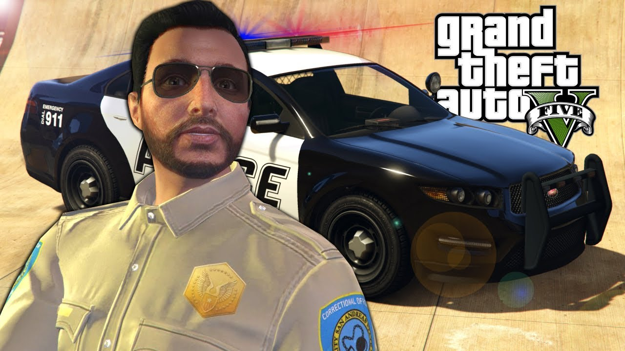 OB & I Became Police Officers in GTA 5 Online! - GTA V Funny Moments