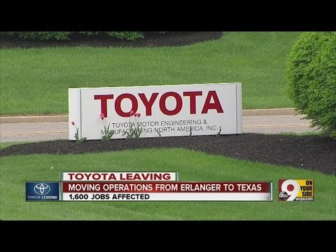 Toyota Motor Corp. to leave Erlanger, Kentucky headquarters
