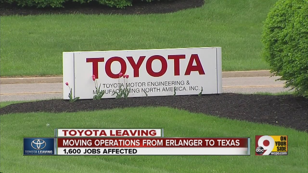 Toyota Motor Corp To Leave Erlanger Kentucky
