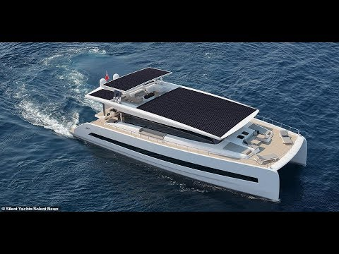 (The Silent 80) super yacht powered by solar power and cruises in pure silence