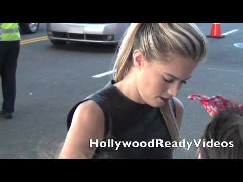 Cody Horn Greets  at The End Of Watch Premiere at LA Live!