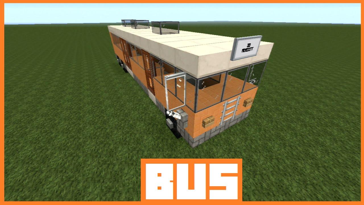 minecraft tutorial bus bauen deutsch youtube. Black Bedroom Furniture Sets. Home Design Ideas