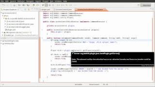 Java Bukkit Plugin Tutorial: Command Arguments - Banning Plugin [part 02]
