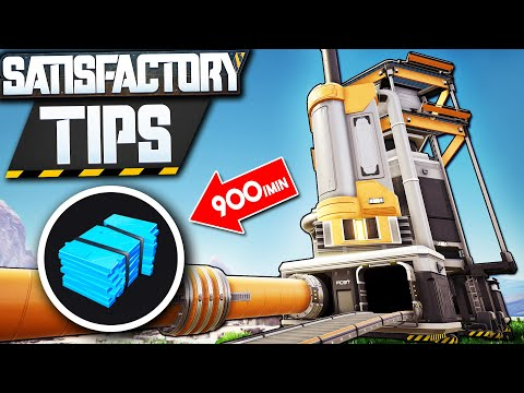 300 Crude Oil ➤ 900 RUBBER Or PLASTIC! - Satisfactory Refinery Setup Tutorial Guide