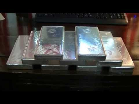 100 oz Silver bars - April 2013 silver price slide
