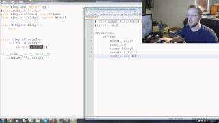 Kivy with Python tutorial Part 4 - Kivy .kv Language cont'd