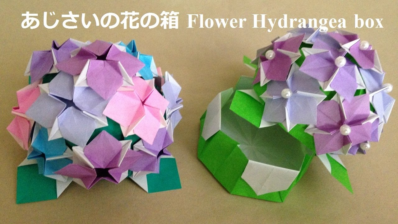 Flower Box Origami Youtube