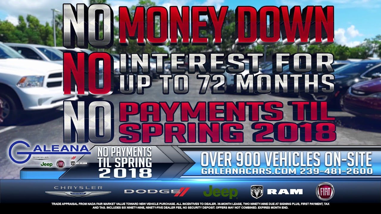 It's NOvember at Galeana Chrysler Dodge Jeep Ram Fiat in Fort Myers
