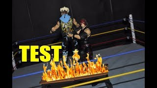 CHOKESLAM THROUGH A FLAMING TABLE! - Pyro Test (WWE Figure Stop Motion)