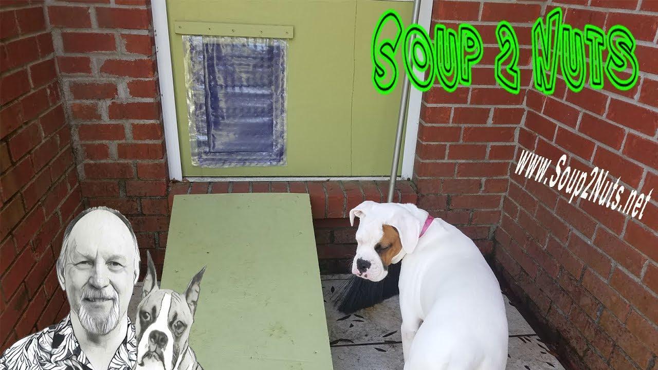 Diy Magnetic Dog Door Flap Youtube