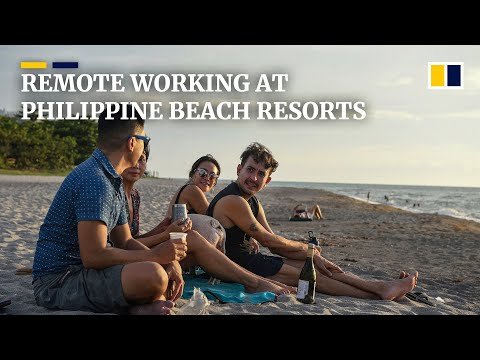 Digital nomads flee coronavirus-hit Manila for beach resorts