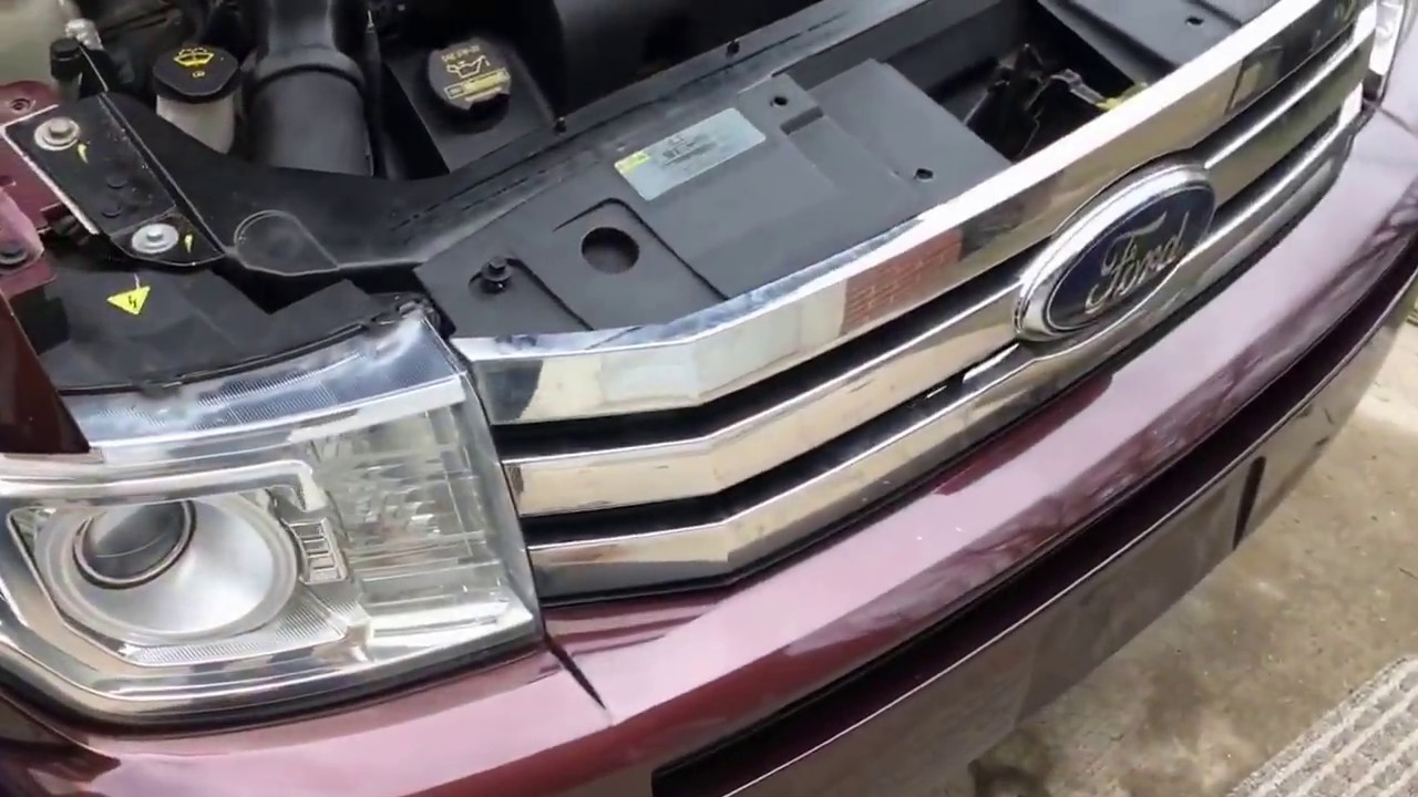ford flex hid xenon bulb replacement how to  [ 1280 x 720 Pixel ]