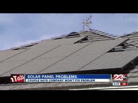 Solar panel problems