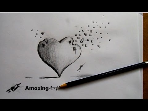 Como Dibujar Un Corazón En 3d How To Draw 3d Heart Youtube