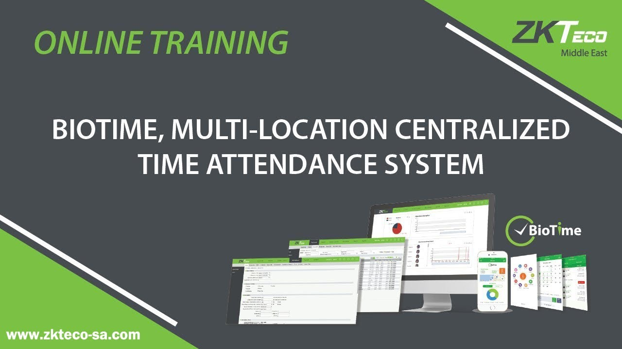 Webinar: BioTime 7 0 Software Introduction by ZKTeco Middle East