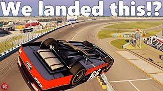 NASCAR Heat 3: MASSIVE BARREL ROLL CRASH! (LANDED!)