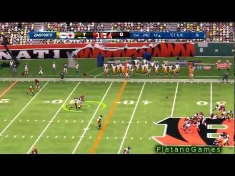 65 Yard Interception Return Troy Palomalu - Pittsburgh Steelers Cincinnati Bengals - Madden