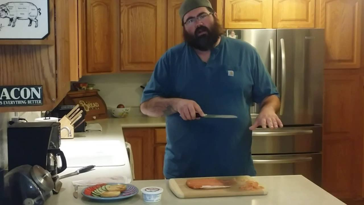 How to make homemade lox salmon served up on a bagel!
