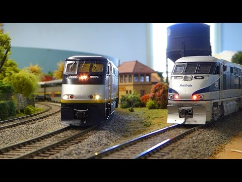 HO Amtrak California w/Soundcar & F59PHi. Plus Western trains: Amtrak Cascades, Surfliner & Sounder.