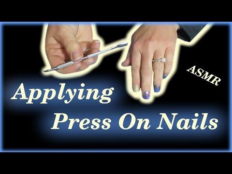 ASMR Applying My Press On Nails *Soft Spoken*