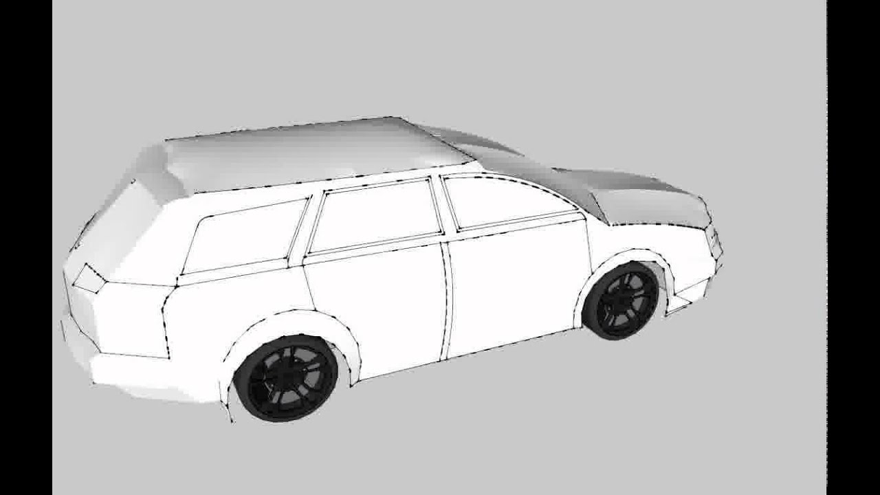 3d model of simple car youtube Simple 3d modeling online
