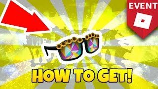 HOW TO GET THE SUNFLOWER SUNGLASSES! (Summer Tournament 2018 Roblox Event!)