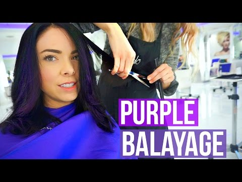 Come To The Salon With Me! Dark Hair with Purple Balayage