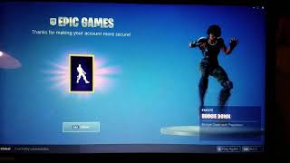 2FA Boogie gift from Fortnite