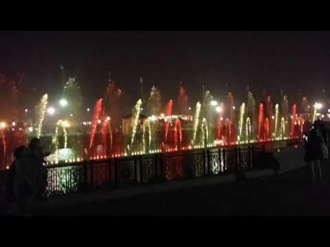 Damadam Mast Qalander Music with Dancing Fountain Greater iqbal park lahore Pakistan