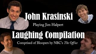 John Krasinski (Jim Halpert) Laughing Compilation & Bloopers