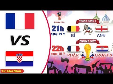 Lịch Thi Đấu Chung Kết World Cup 2018 Cuộc Chiến Giữa Pháp vs Croatia, Anh vs Bỉ
