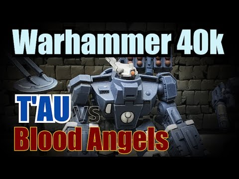 T'au vs Blood Angels Warhammer 40k Battle Report Ep 35