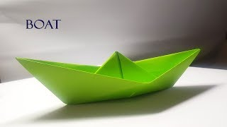 How to make a Origami Paper Boat !!Very Easy step by step Paper Boat
