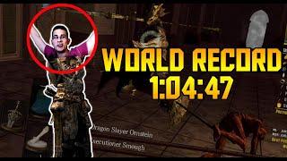 World Record Dark Souls All Bosses Speedrun in 1:04:47