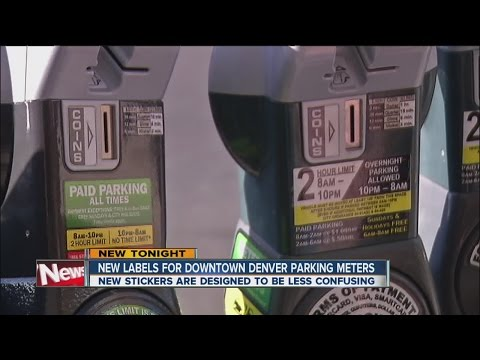 New Labels For Downtown Denver Parking Meters