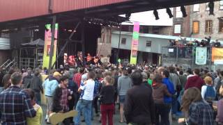 Trampled By Turtles gets the crowd dancing at Fresh Grass 2012