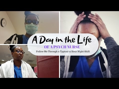 A Day In The Life Of A Psych Nurse | Come To Work With Me | 12 Hour Night Shift | KeAmber Vaughn
