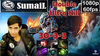 SumaiL (EG) - Slark Pro Gameplay | Double Ultra Kill | Safelane MMR [Dota 2 Pro] @60fps