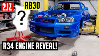 Gambar cover R34 Skyline ENGINE REVEAL!! | Poor Man's GTR [EP16]