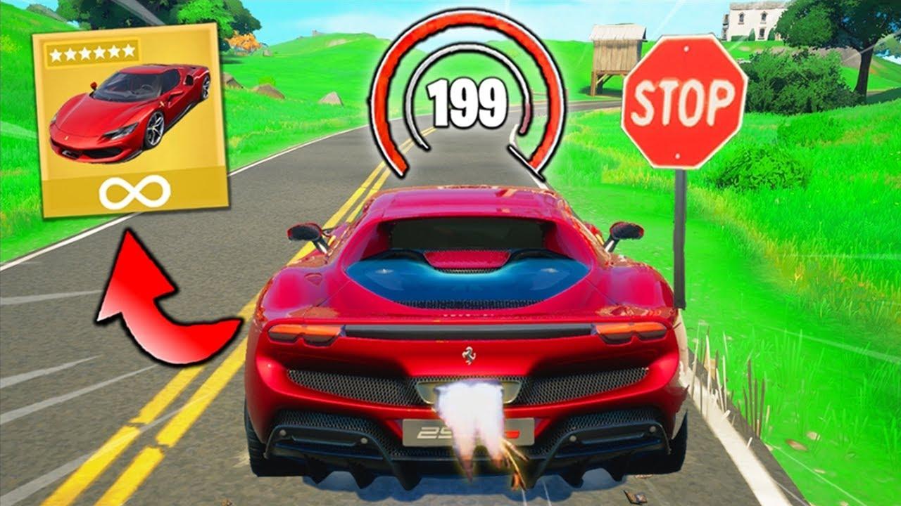 Fortnite, But I Can't Break Any LAWS (Ferrari Edition)