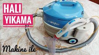 Halı Yıkama Makinesi ile Halı Nasıl Yıkanır  👌 Halı Temizliği Vlog 💯 #halıtemizliği