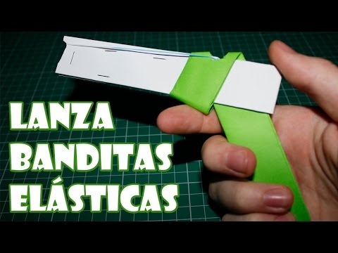 Paper gun Lanza Elastic Bandages Easy Homemade Weapons