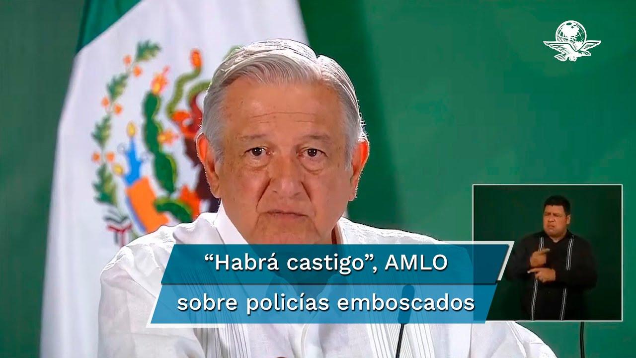 Download Habrá castigo a responsables del asesinato de 13 policías en Coatepec Harinas: AMLO