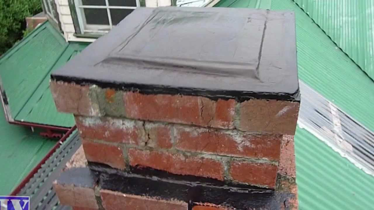 Seal Amp Waterproof Concrete Amp Brick Chimney With Liquid