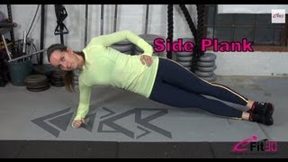 7 Minute fitness CIrcuit - 16 Side Plank (HIIT)