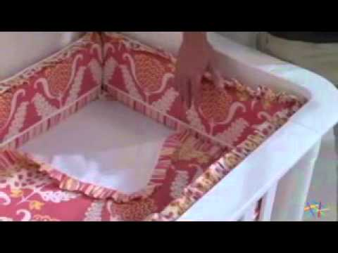 Hoohobbers Tulips 4 Piece Crib Bedding Set - Product Review Video