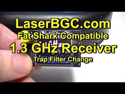 LaserBGC Fat Shark Compatible 1.3GHz Receiver (Changing Audio Trap Filter)